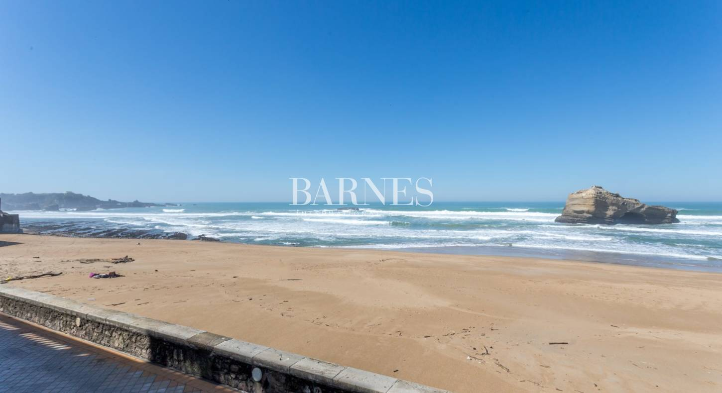 biarritz 1er rang vue mer appartement de 55 m avec terrasse barnes c te basque. Black Bedroom Furniture Sets. Home Design Ideas